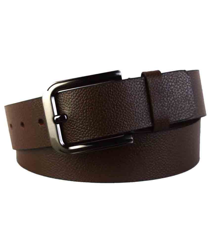 Shopatplaces Kanpur Leather Belt In Brown
