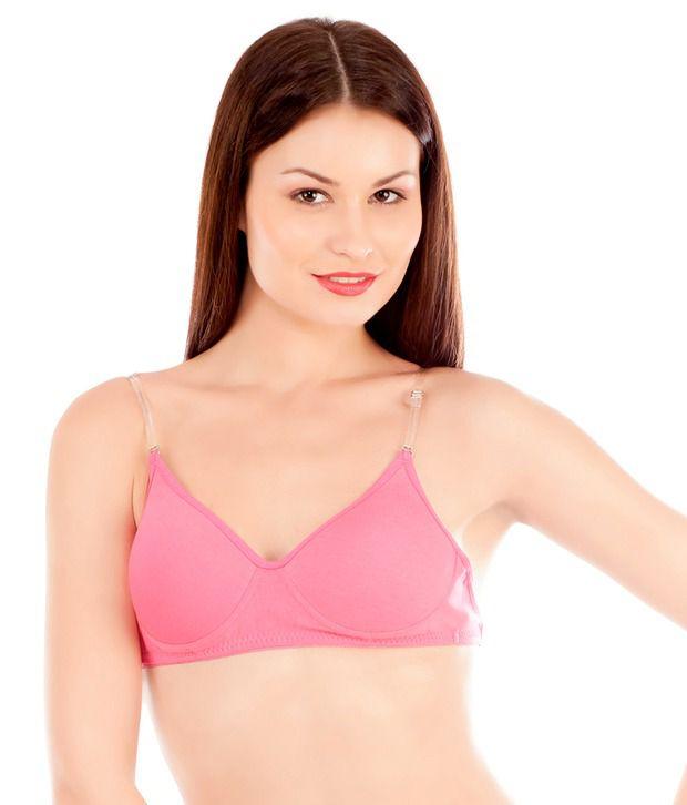buy tweens backtransparent purple padded bra online at