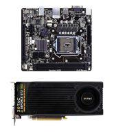 ZOTAC Nvidia Geforce Gtx 760 2 Gb Gddr5 Graphics Card With Gigabyte GA-H61MS Motherboard