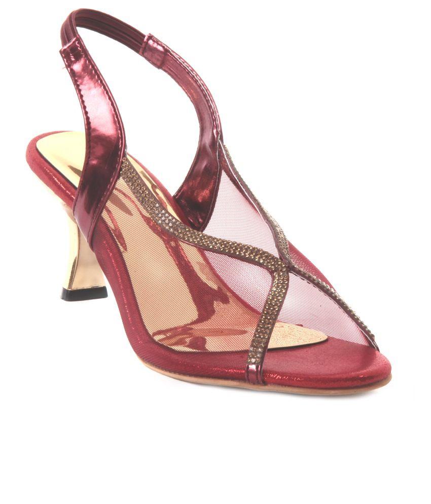 Adorn Maroon Stiletto Sandals