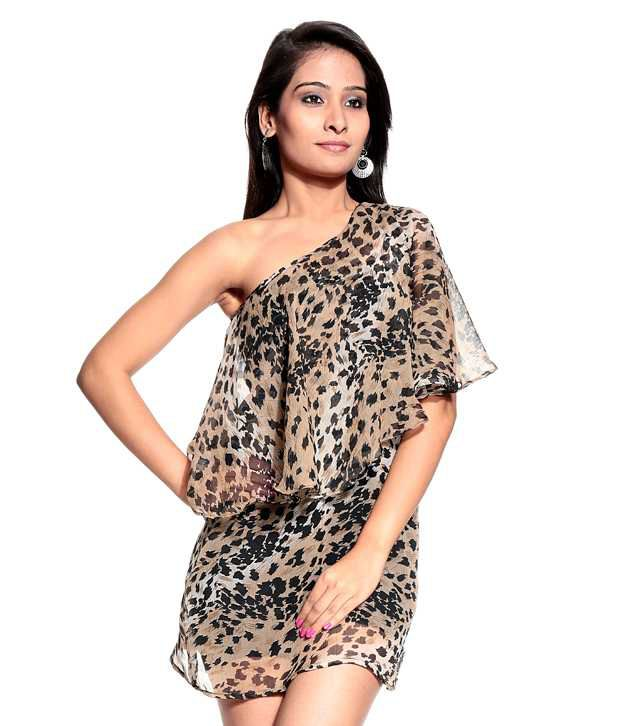 6cb4c85e4232 M Expose Brown Off-Shoulder Poly Crepe Short Dresses - Buy M Expose Brown  Off-Shoulder Poly Crepe Short Dresses Online at Best Prices in India on  Snapdeal