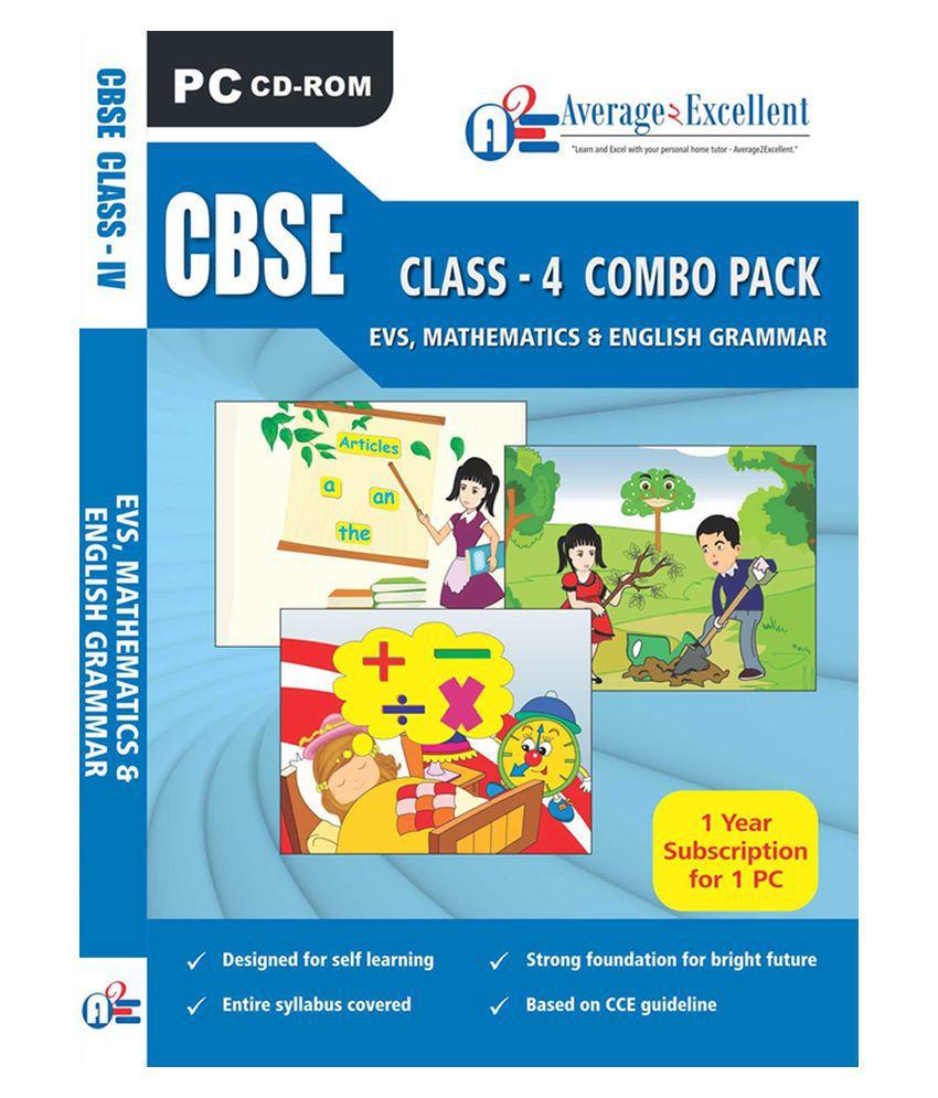 CBSE Class 4 Evs,Mathematics, English Grammar Educational Cd Roms by ...