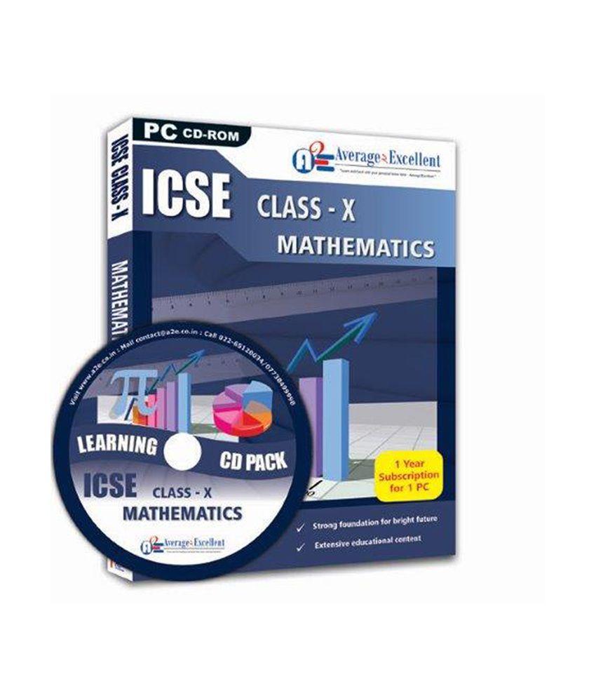 icse class mathematics educational cd roms by averageexcellent icse class 10 mathematics educational cd roms by average2excellent