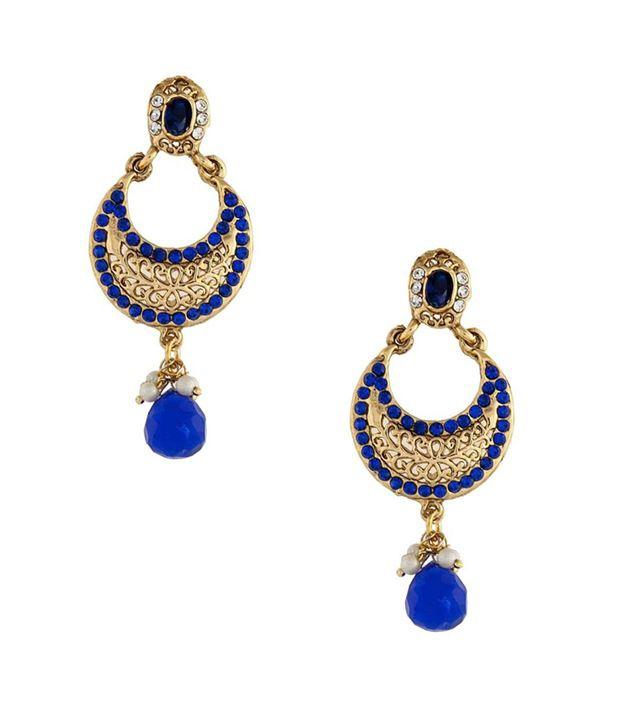 Crunchy Fashions Blue Moon Danglers