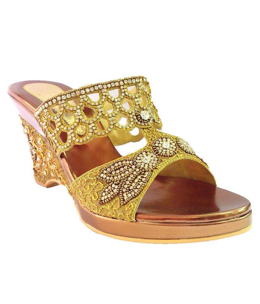 Shoe Centre Fancy Platform With Stonestudded Heels