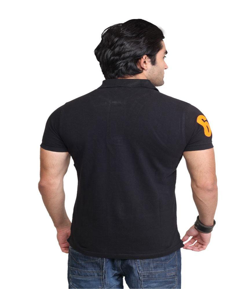 Punk Black Cotton Polo T Shirt Buy Punk Black Cotton Polo T Shirt