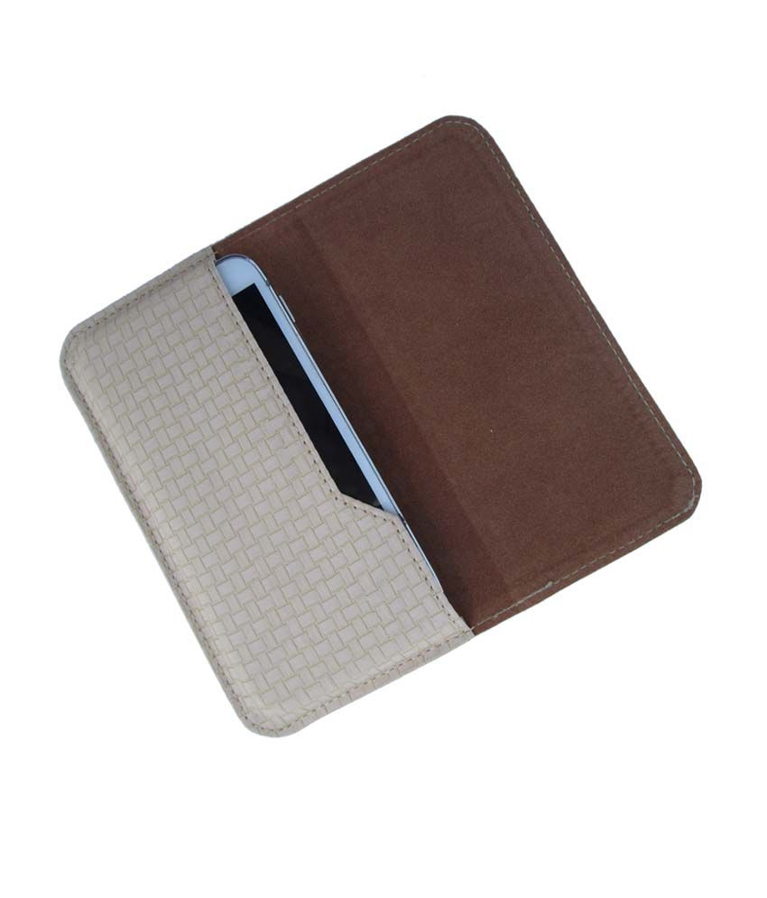 Ikitpit Pu Leather Flip Pouch Case Cover For Lava Iris 351