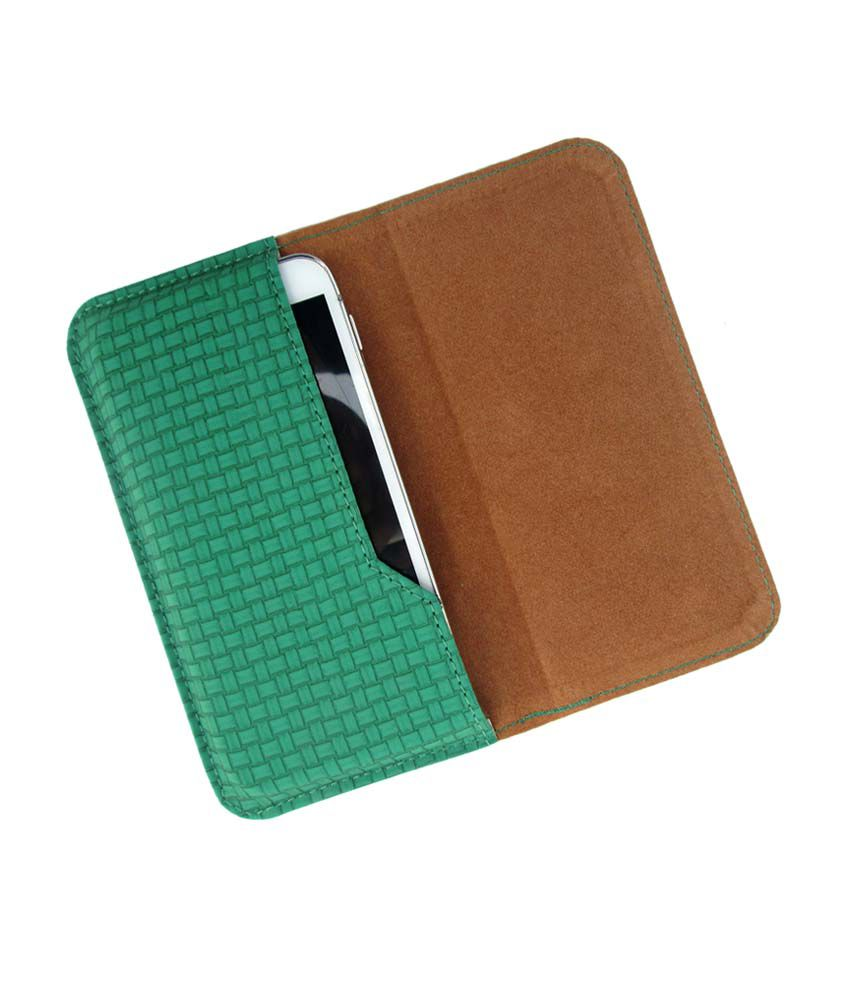 Ikitpit Pu Leather Flip Pouch Case Cover For Lava Iris 454