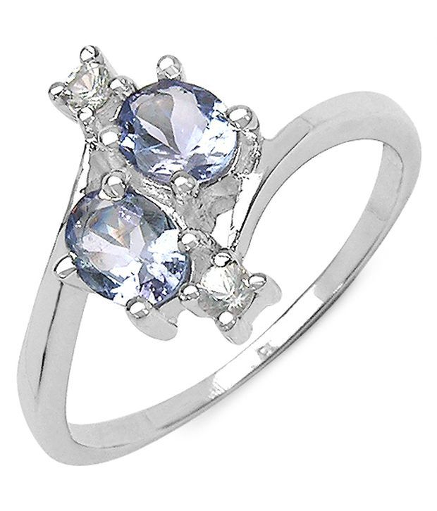 Tanzanite Buying Tanzanite: 0.76CTW Genuine Tanzanite & White Sapphire .925 Sterling
