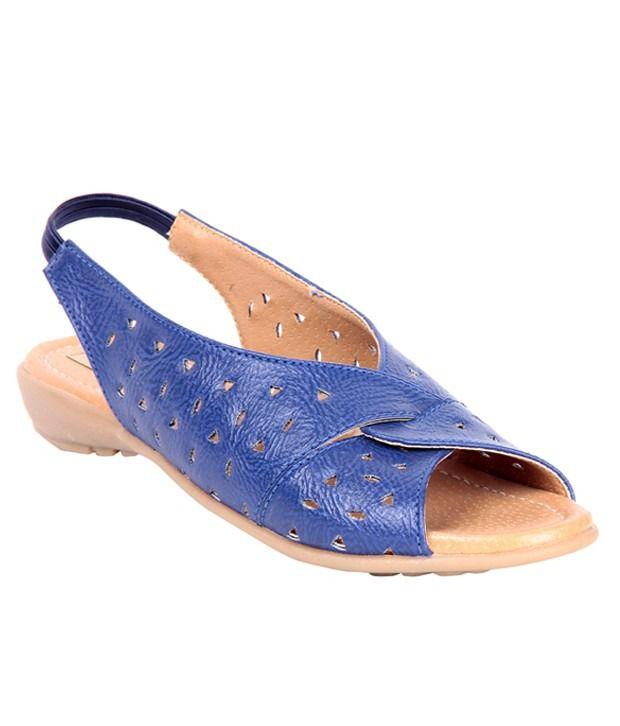 Big Buckles Blue Sandal