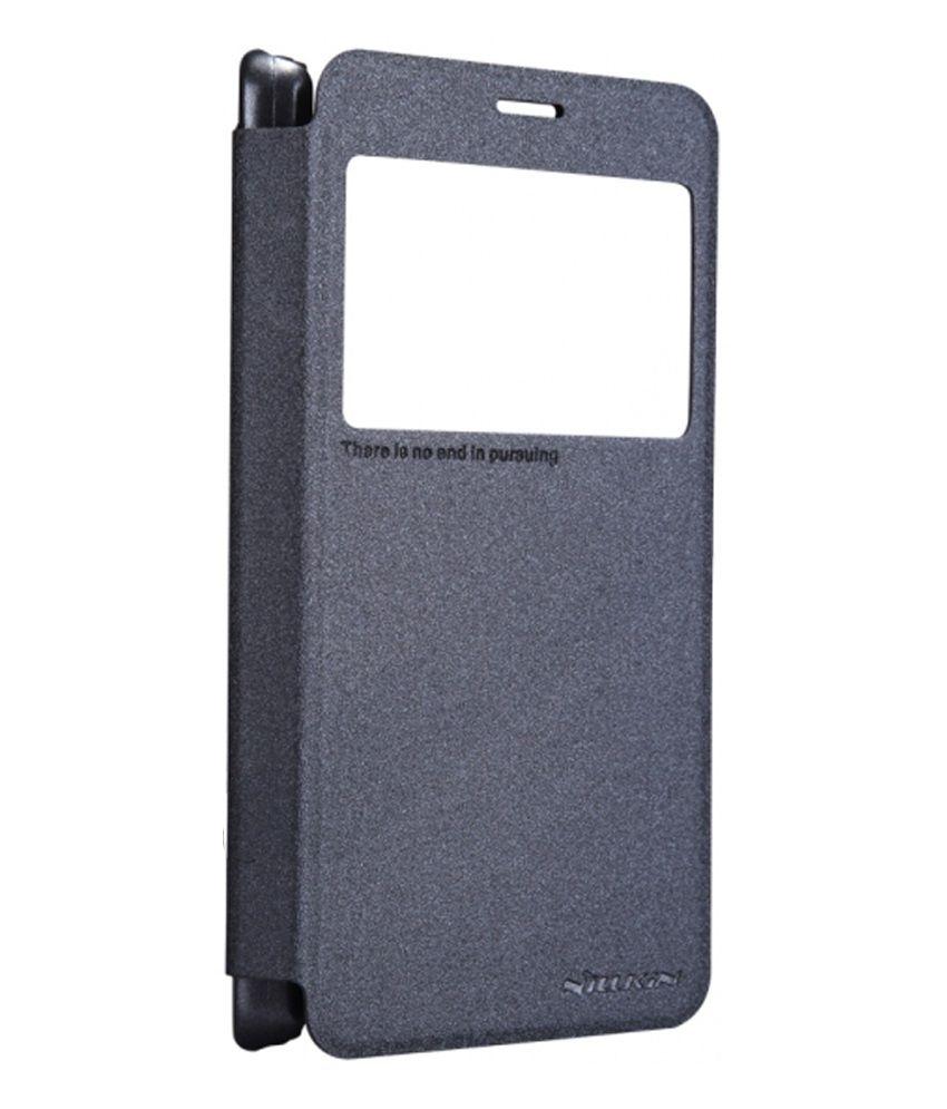 buy online 76eeb 68366 Nillkin Lenovo S850 Premium Leather Sparkle Series Flip Book Cover Case  Black