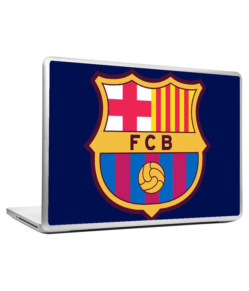 Headturnerz fc barcelona logo art blue laptop skins buy for Blue barcelona