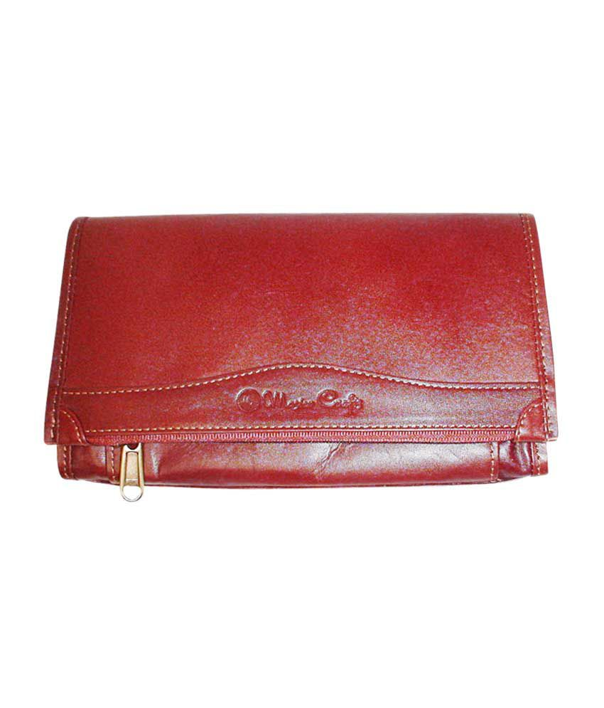 Master Crafts Leather Women Long Wallet