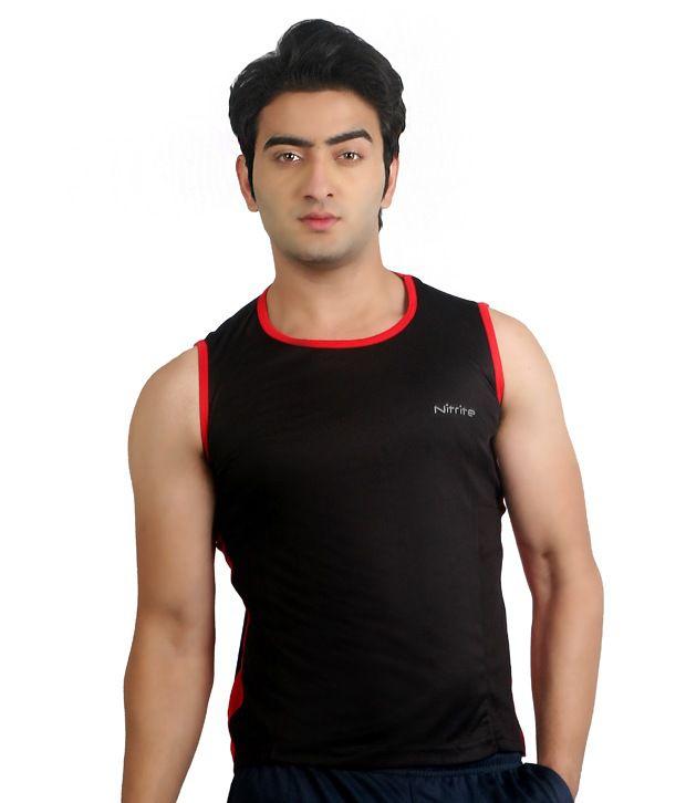 Nitrite Black Polyester  T-Shirt
