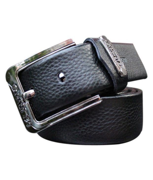 WINSOME DEAL Black Casual Single Belt ForMen No