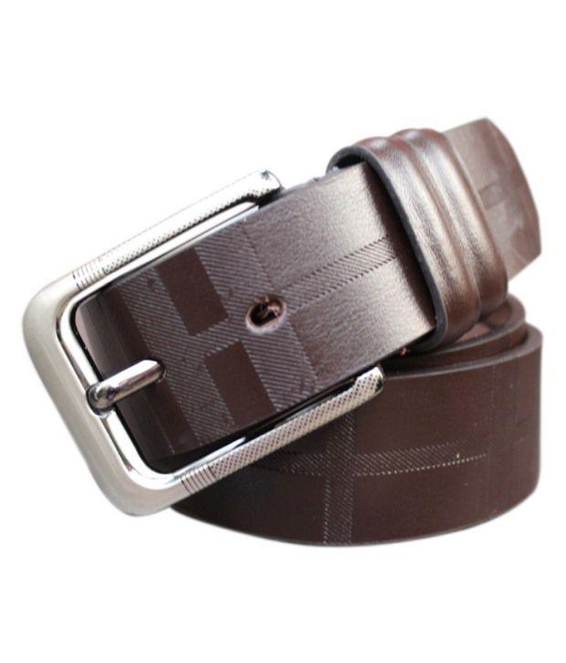 WINSOME DEAL Brown Formal Single Belt ForMen No