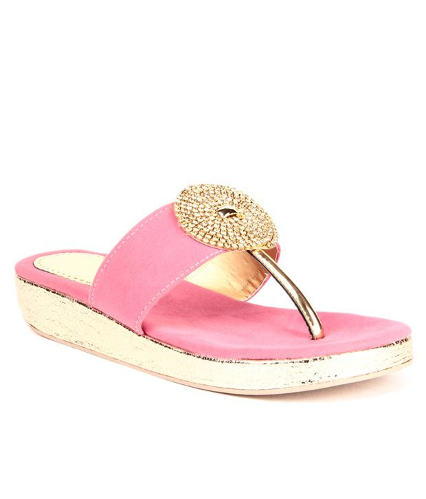 Anand Archies Pink Heeled Slip-On
