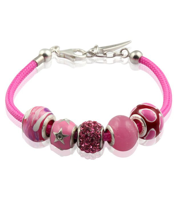 GemLN 92.5 Sterling Silver Pink Passion Predesigned Bracelet