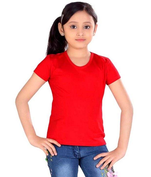 Sini Mini High Fashion Girls Cotton Top Red