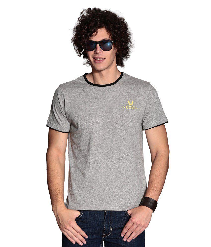 Colt Gray Cotton  T-Shirt