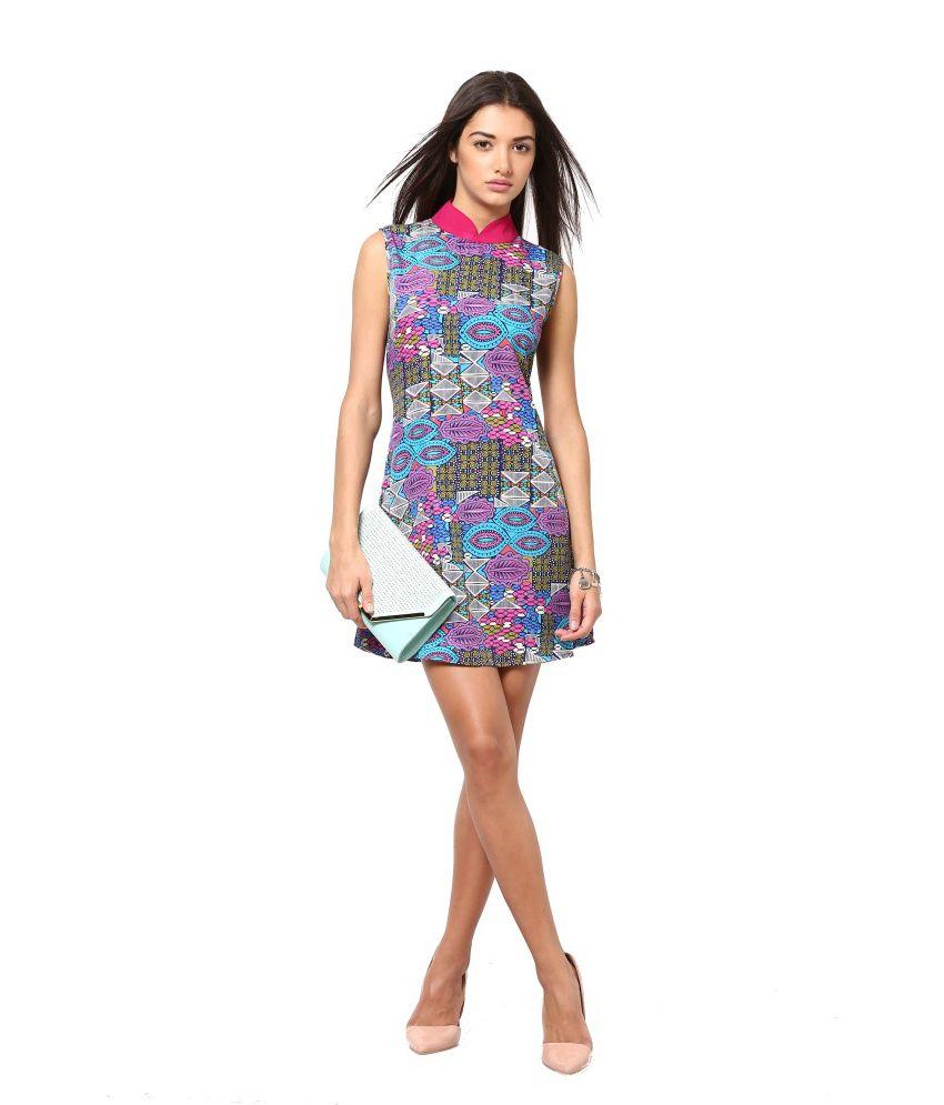 eavan multi color poly crepe dresses buy eavan multi color poly crepe dresses online at best. Black Bedroom Furniture Sets. Home Design Ideas