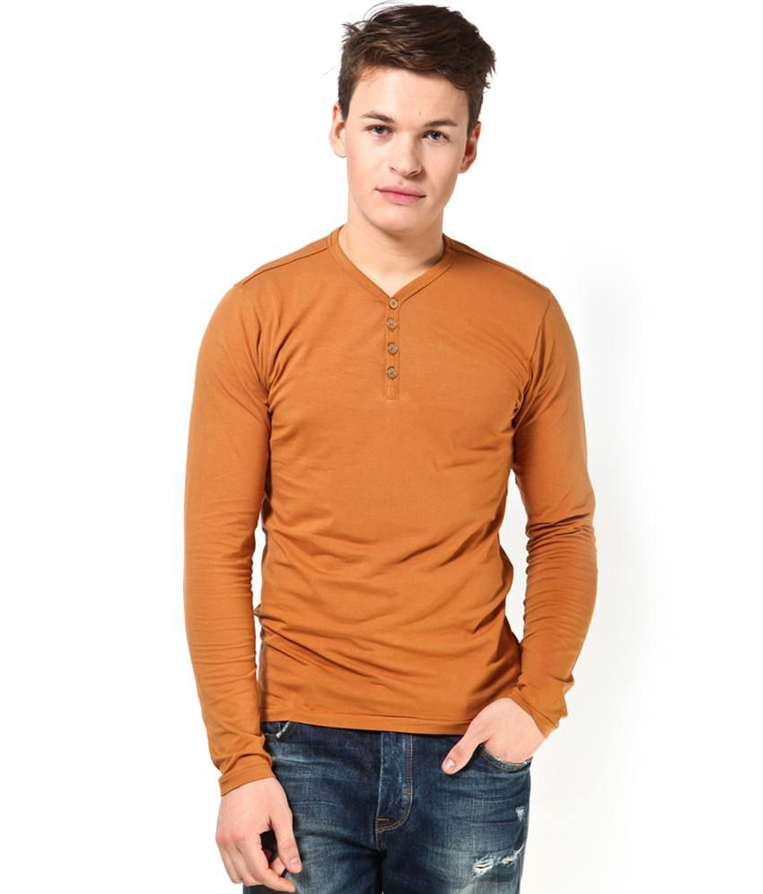 Jack & Jones Brown Cotton Blend T-Shirt