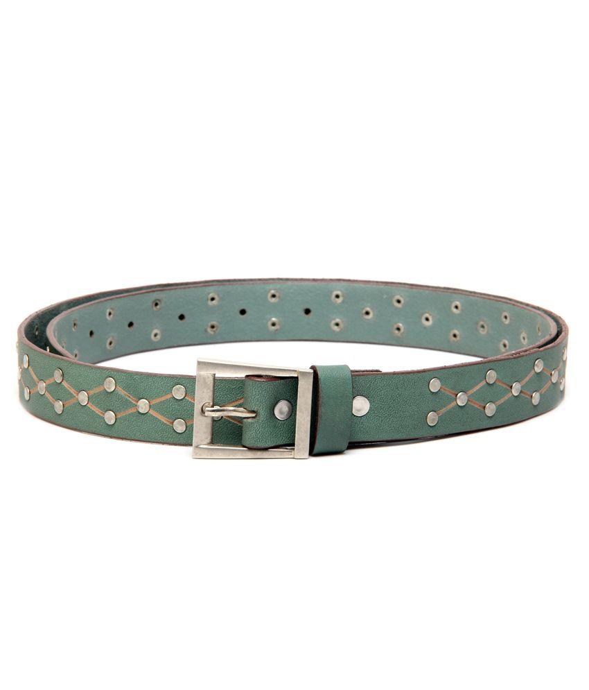 Ligans NY Green Casual Single Belt ForMen