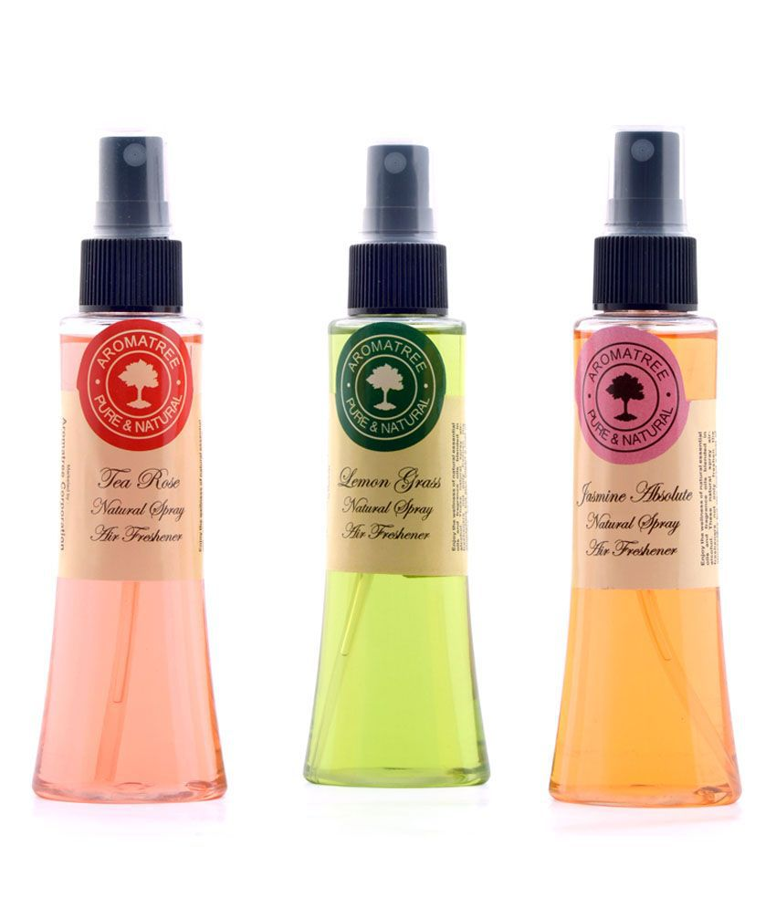 Set of 3 natural air freshener spray lemon grass tea - Natural air freshener for bathroom ...