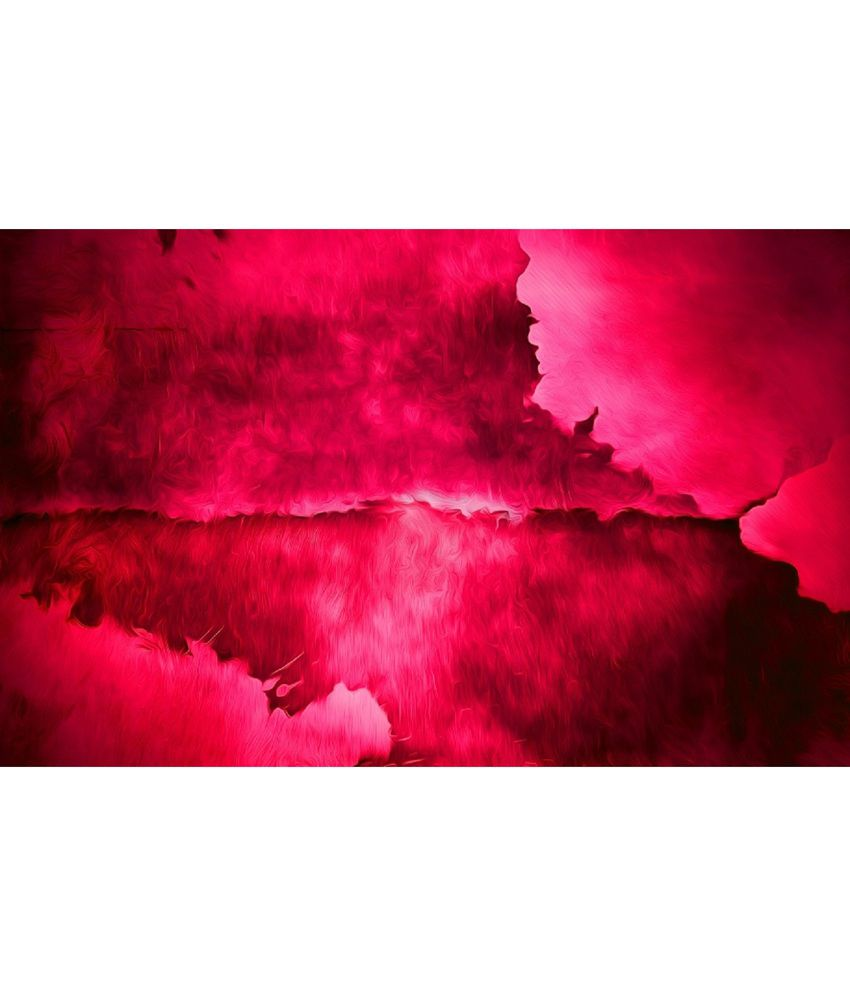 Vishnu Artz Pure Stains Pink Oil Painted Canvas Wall Painting