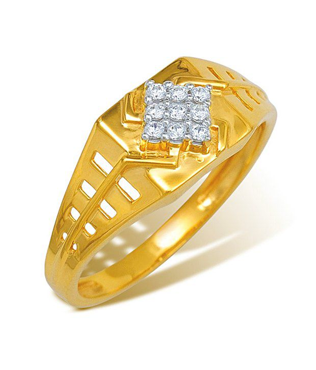 18k Yellow Gold with CZ Stones3.194GramsRingsByIshtaa