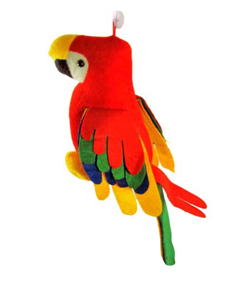3 4 In Octagon Bird Toys : Musical parrot soft toy inches with tail inch buy