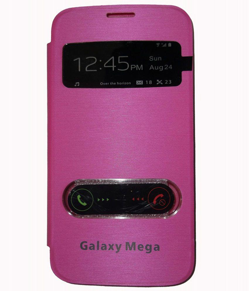 big sale 76a90 1554d Jma S-view Flip Cover Case For Samsung Galaxy Mega 5.8 I9152 Pink
