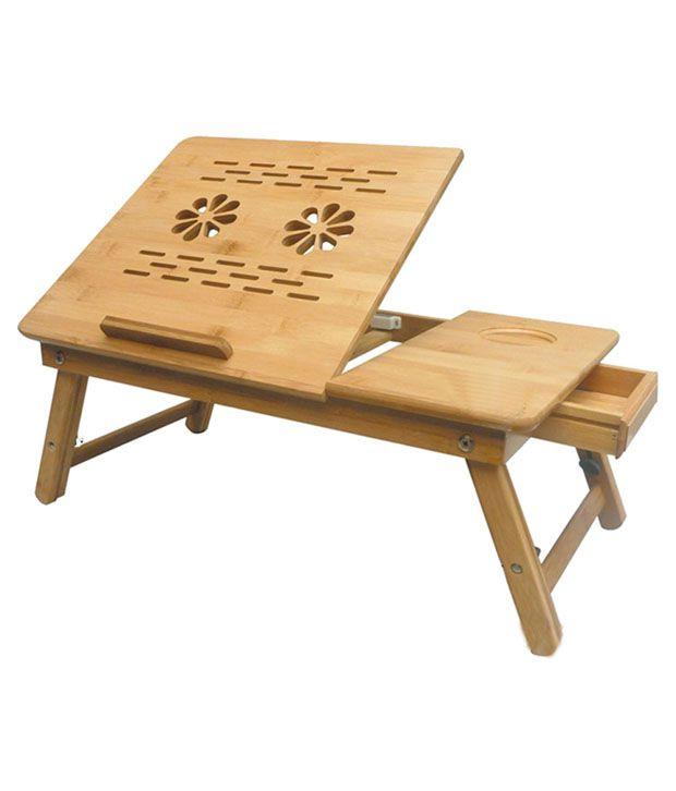 Wooden Portable Laptop Desk cum Study Table Foldable Design