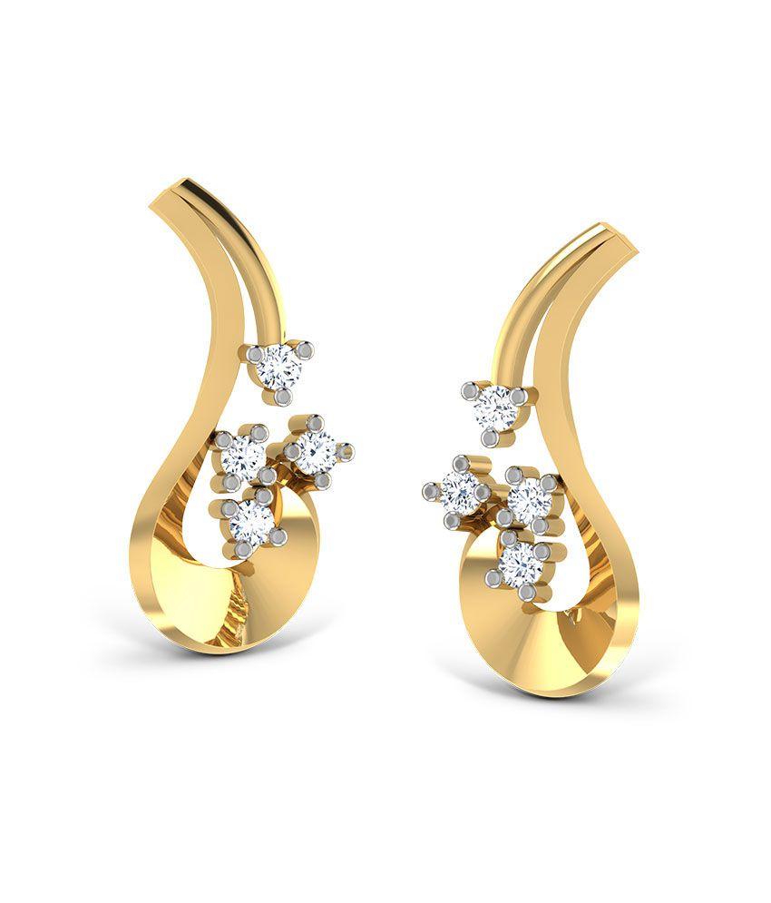 Jewel Berry Mushy Margaret Earrings - Hallmark 14kt Gold With Certified Si/ij Diamonds