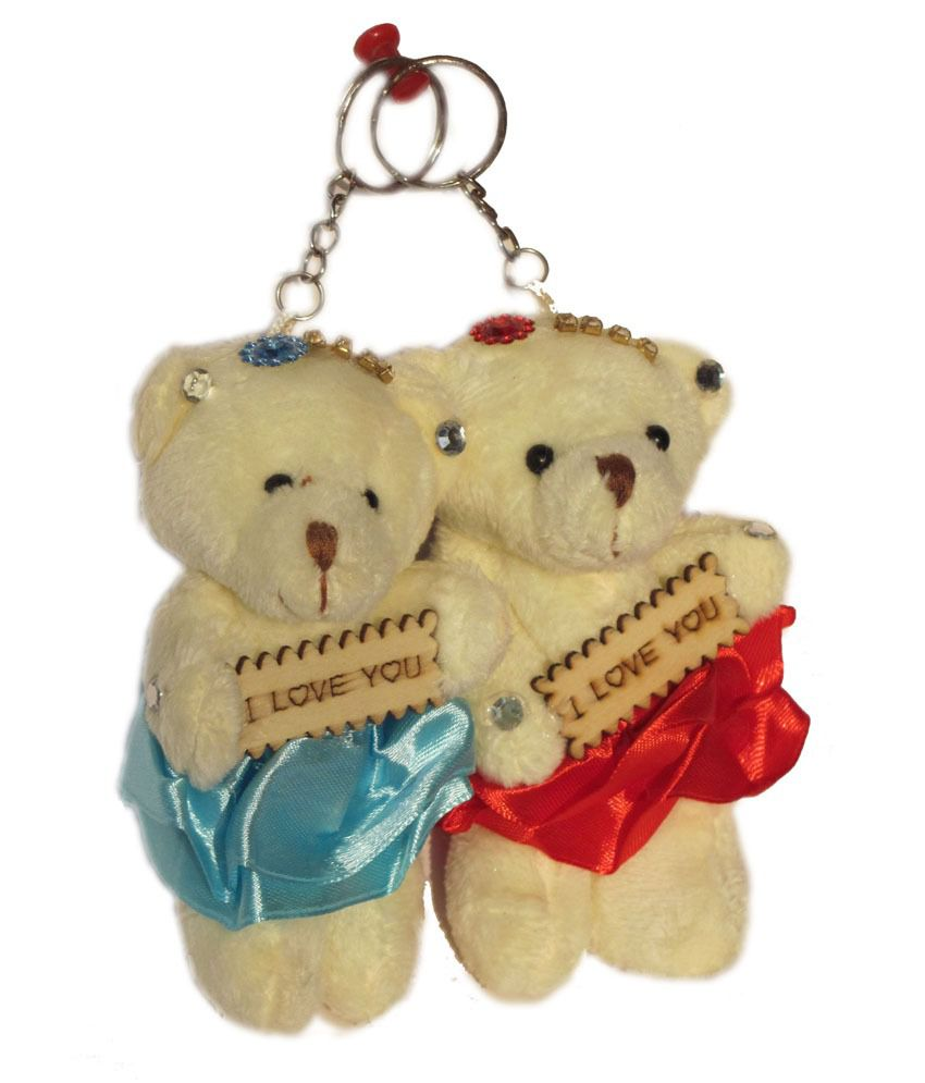Tickles Lovely Cute I Love You Teddy Bear Keychain