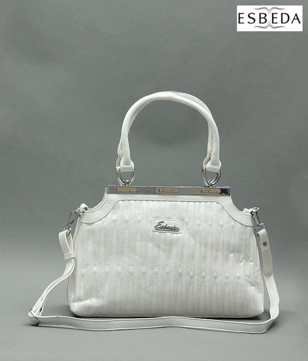 Esbeda White Pyramid Handbag
