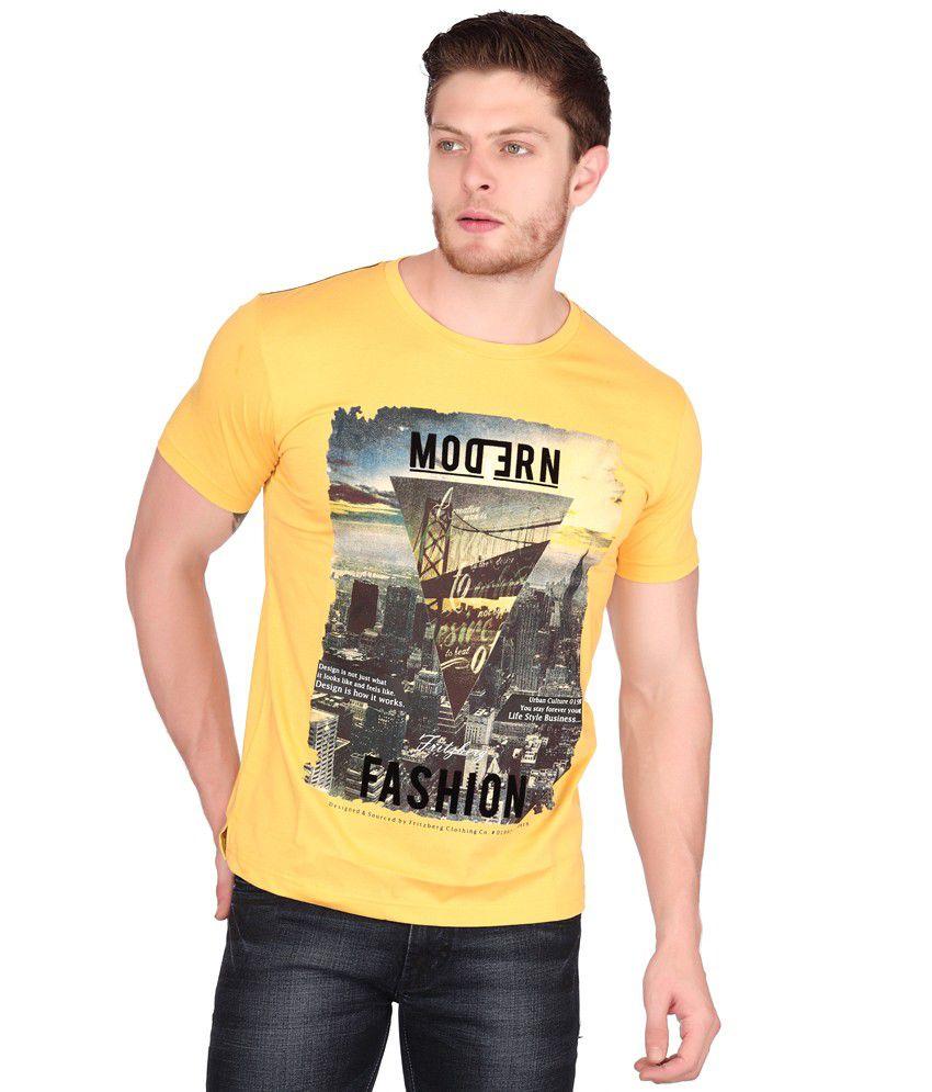 Fritzberg Yellow Half Cotton Round T-Shirt