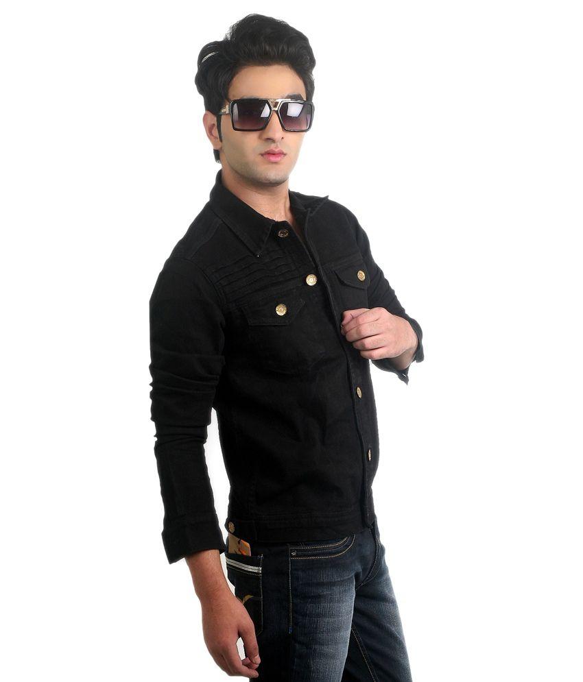 Ripfly Black Denim Full Sleeves Jacket For Men Buy Ripfly Black