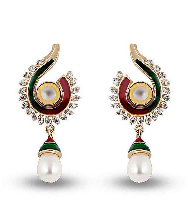 Shashvat Jewels 14kt Gold Drop Earrings