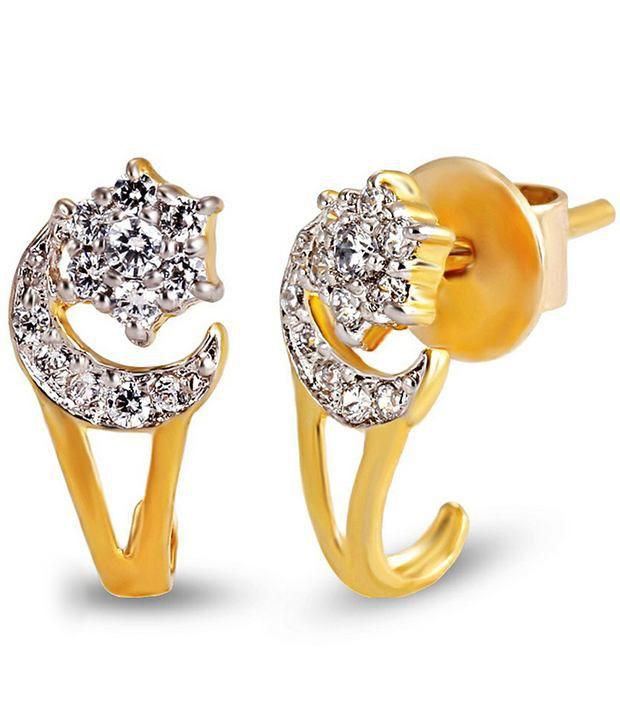 Shashvat Jewels 18kt Gold Stud Earrings