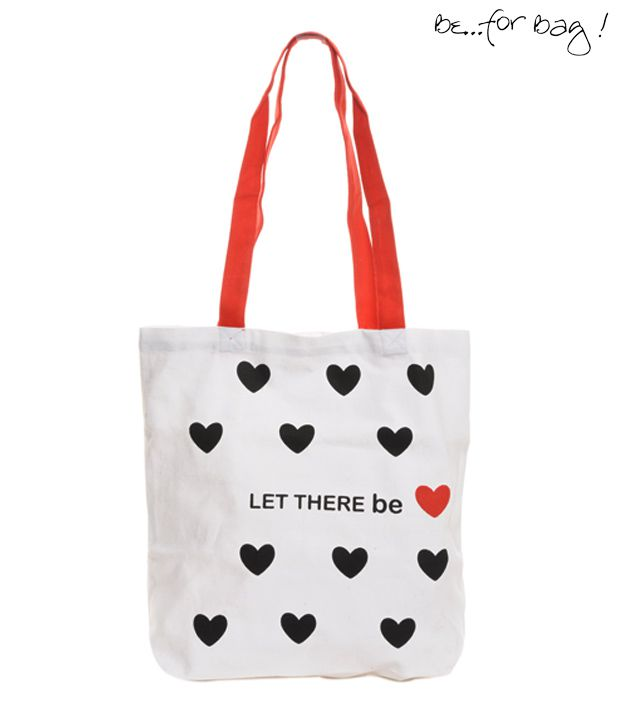 B4Bag! White Love Tote Bag