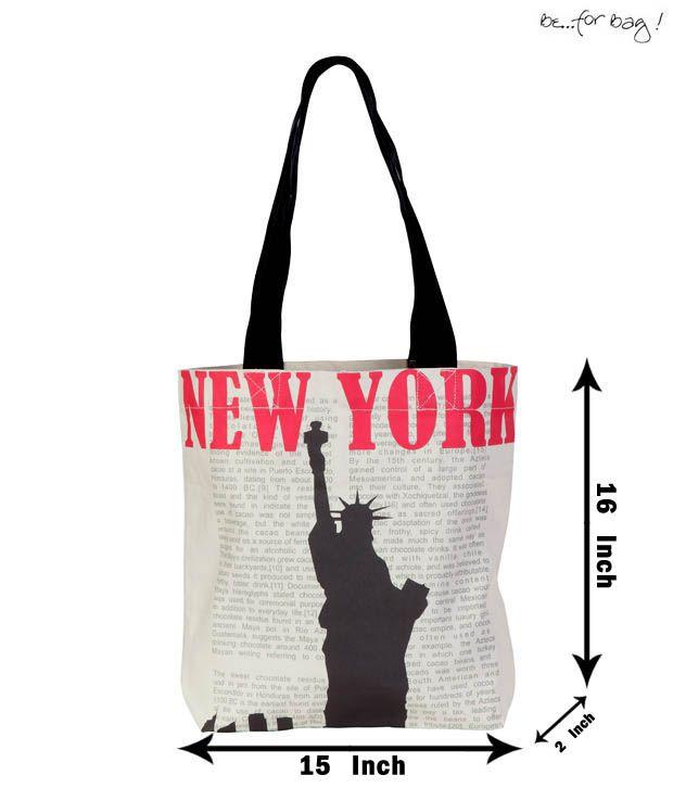 Be For Bag Black & White Statue of Liberty Printed Handbag