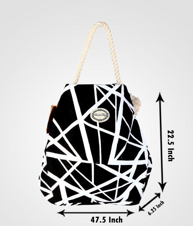 Be For Bag Black & White Abstract Print Handbag