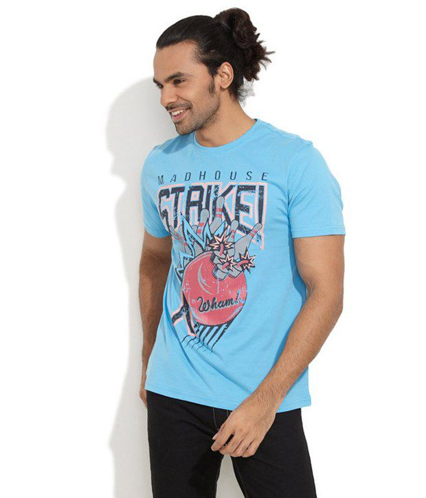 Colt Blue Cotton  T-Shirt