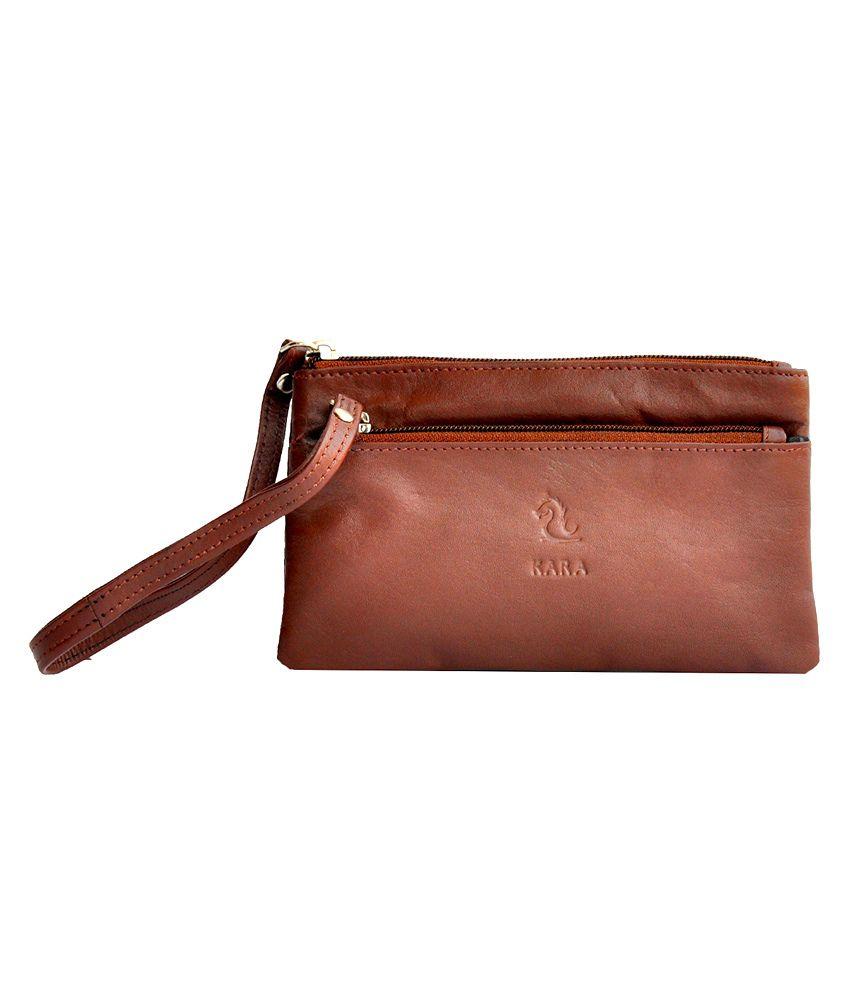 Kara 8027 Tan Formal Wallet