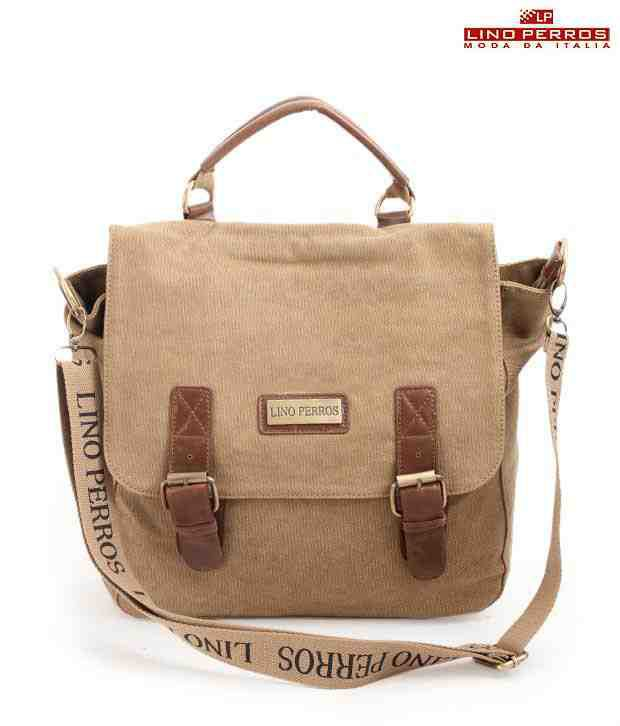 Lino Perros Lovely Beige Double Buckle Sling bag