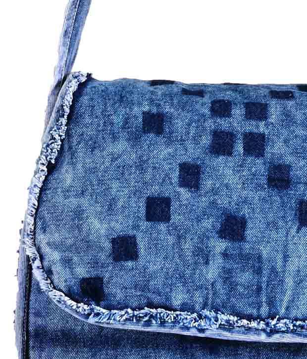 President Denim Blue Sling Bag - Buy President Denim Blue Sling ...