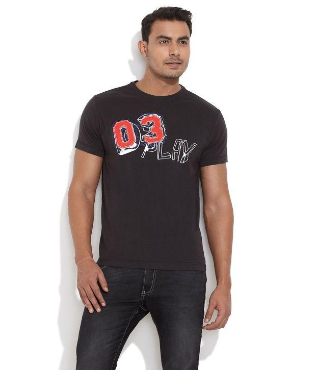 Smokestack Black Cotton  T-Shirt