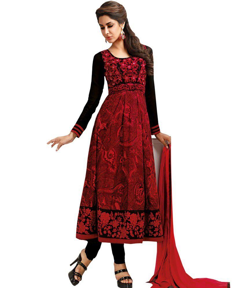57a59cf9d1 Riya Fashion Maroon Cotton Designer Anarkali Dress Material - Buy Riya  Fashion Maroon Cotton Designer Anarkali Dress Material Online at Best  Prices in India ...