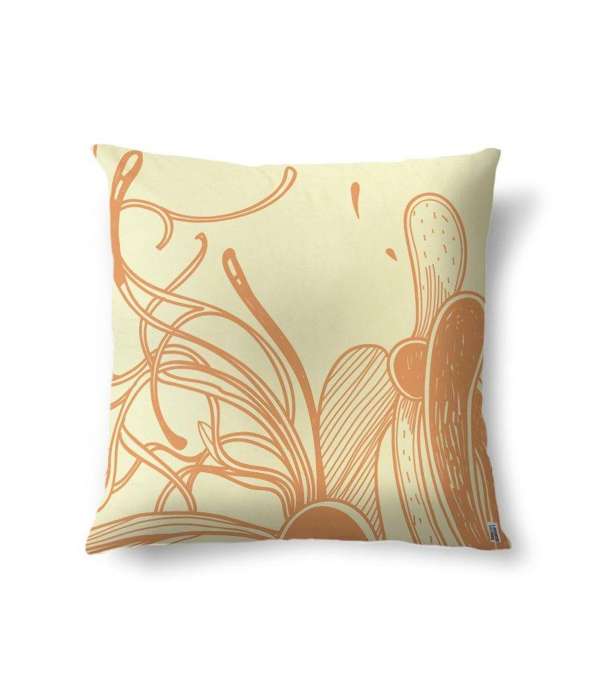 bluegape Beautiful Leaves Digitally Printed Cushion Cover 1 Piece